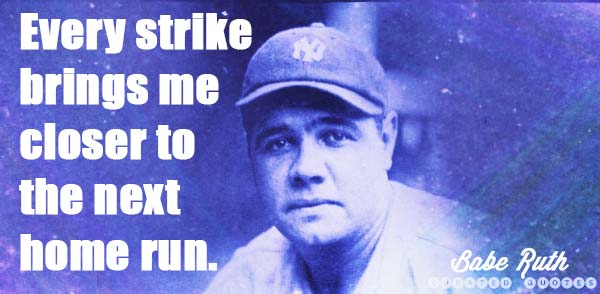 Babe Ruth Strike Home Run